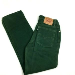 Vintage Levi's 512 High Rise Slim Straight Leg